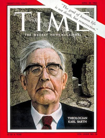 TIME Magazine Cover: Karl Barth -- Apr. 20, 1962 (Karl Barth was a Swiss Reformed theologian whom many scholars hold to be among the most important thinkers of the 20th century; Pope Pius XII described him as the most important theologian since Thomas Aquinas.)