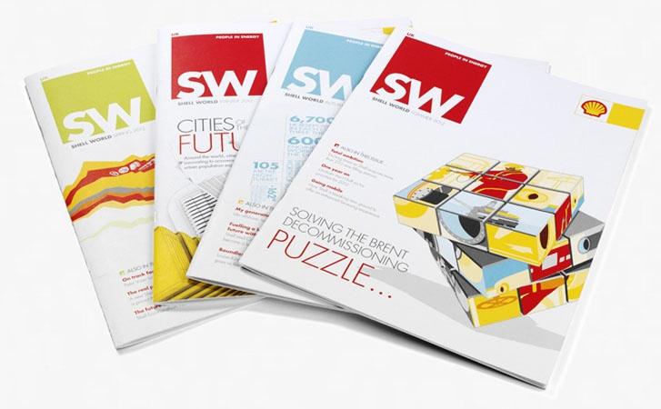 Shell World corporate communications literature.