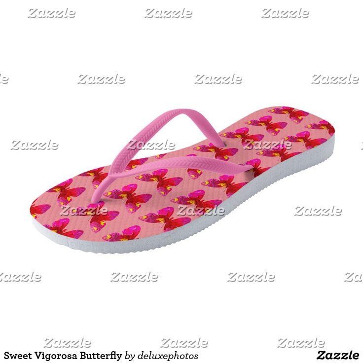 Sweet Vigorosa Butterfly Flip Flops