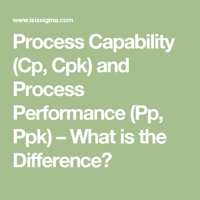 Process Capability (Cp, Cpk) and Process Performance (Pp, Ppk) – What is the Difference?