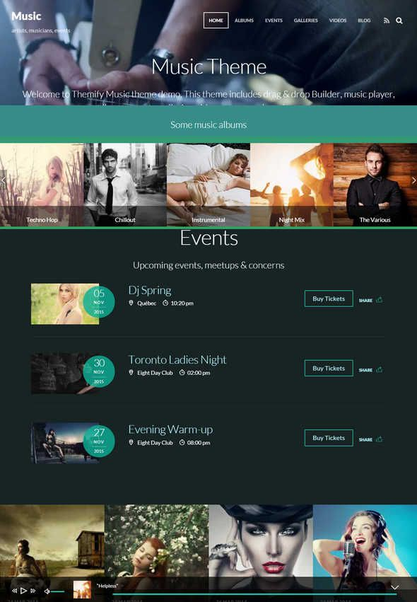 10+ Awesome & Responsive WordPress Music Themes 2016  Hello Friends, We all know that the promotion is essential for any kind of musician, band or DJ and having your own website is one vital tool to help you build your audience. The only resource you will ever need to choose the best WordPress music theme for your band, solo career, nightclub, record label, […]