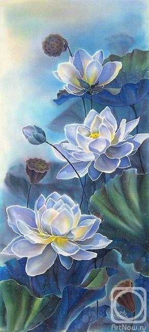 """Lotus"" ~ Victoria Archer, batik:"
