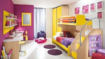 Habitciones infantiles llenas de color