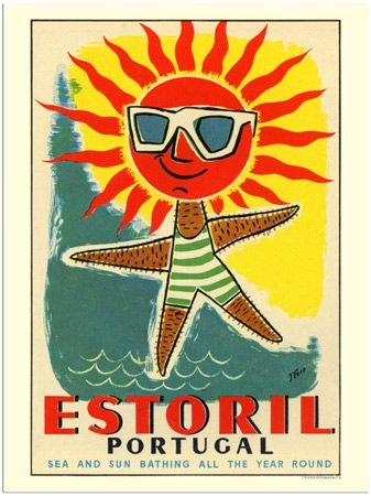 VP12415-04 - Estoril Portugal, Travel Poster (30x40cm Art Print)