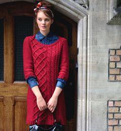 modèle tricot robe laine
