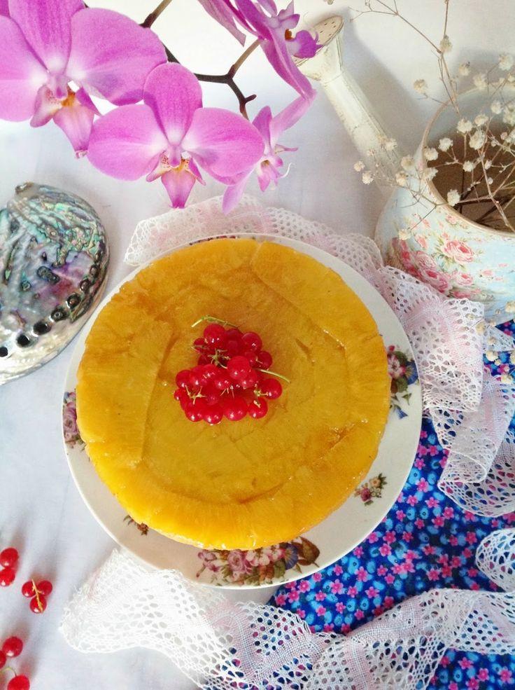 Tarta invertida de piña y jengibre - Pattys Cake http://pattyscake-pbb.blogspot.com.es/2014/06/tarta-invertida-de-pina-y-jengibre-reto.html