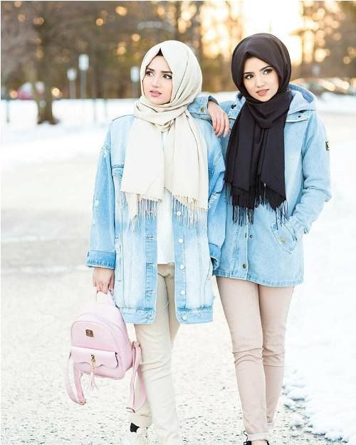 oversized jacket-Hijabi photo session with your best friend – Just Trendy Girls