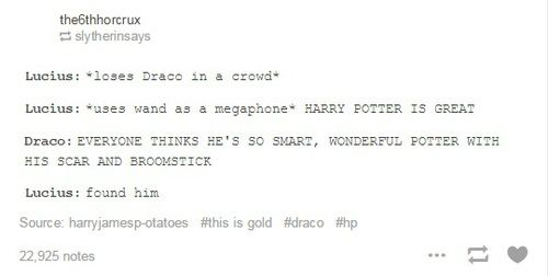 Immagine di draco malfoy, funny, and harry potter