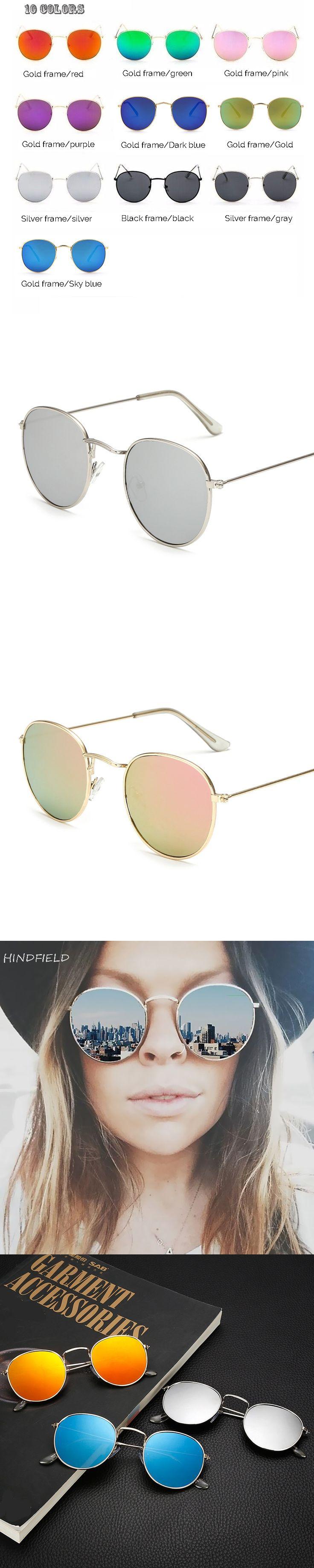 Hindfield Black Hot Rays Round Sunglasses Women Brand Designer Sun Glasses for Men 2017 Mirror UV400 Oculos De Sol Masculino
