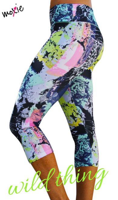Wild Thing Workout Leggings from Moxie Fitness Apparel