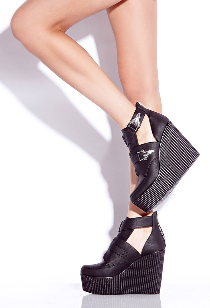 I really need this, please bring them back. #ForeverHoliday #WishPinWin: Forever 21, Secret Rebel, 2040495579, Cutout Booties, Buy, Rebel Cutout, Things, Booties Shoes, Forever21