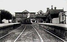 Eastwood Railway Station in the Sydney Metropolitan area in 1912 A♥W