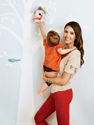 @Jessica Alba uses natural fiber #CapelRugs instead of carpeting in here baby-friendly home.