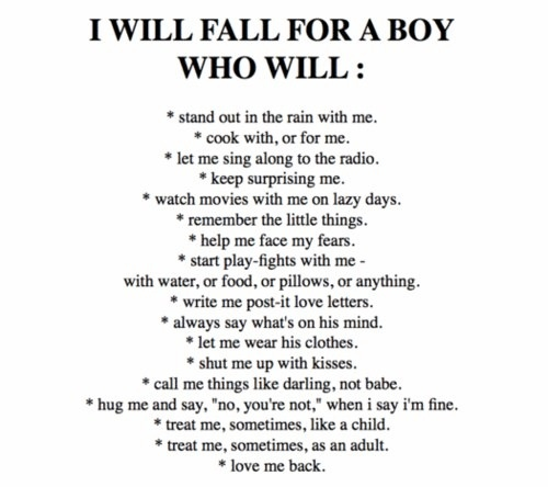 Fall for a boy who...