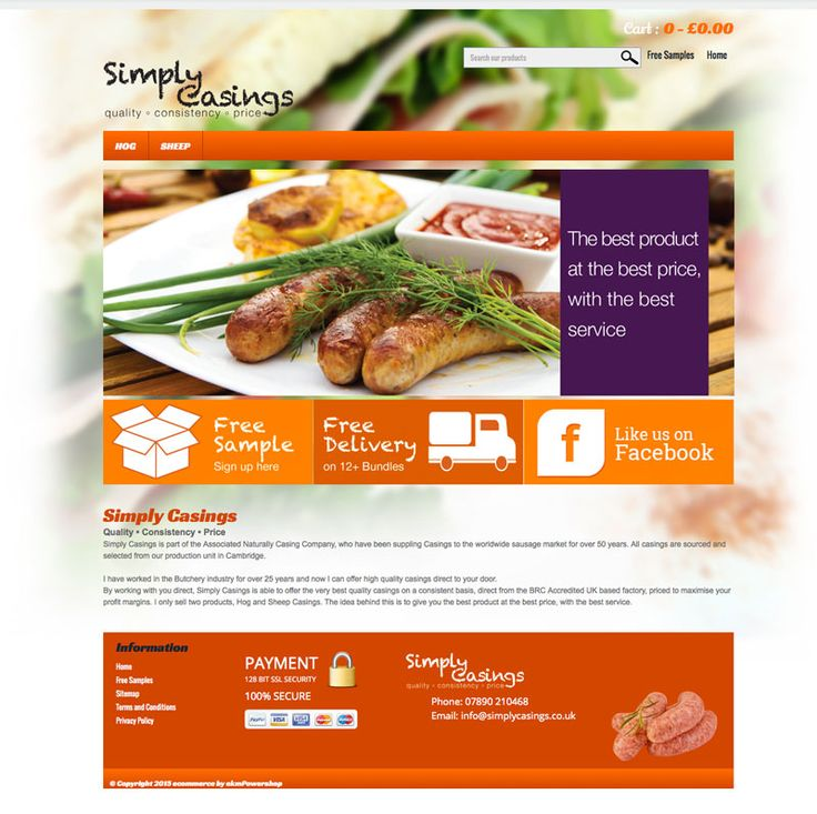 Ecommerce site for butchers