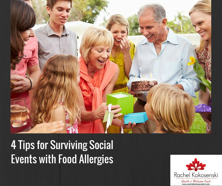 When you have food allergies, social events can be really tricky. But, there are ways to survive them!  #socialevents, #foodallergies, #eatingoutwithfoodallergies
