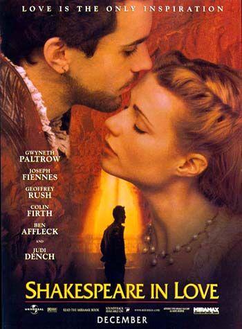 """Shakeaspeare in Love"" 1999 Filme de John Madden"
