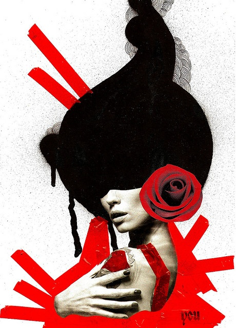 onlyou, mixed media collage by Lidia Brancher