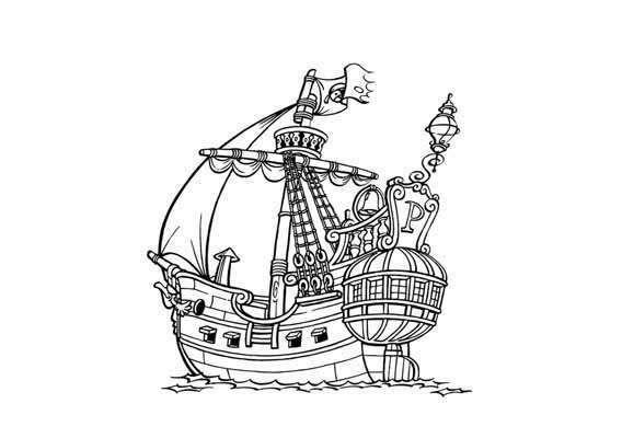 piraat kleurplaat piratenschip kleurplaten gratis