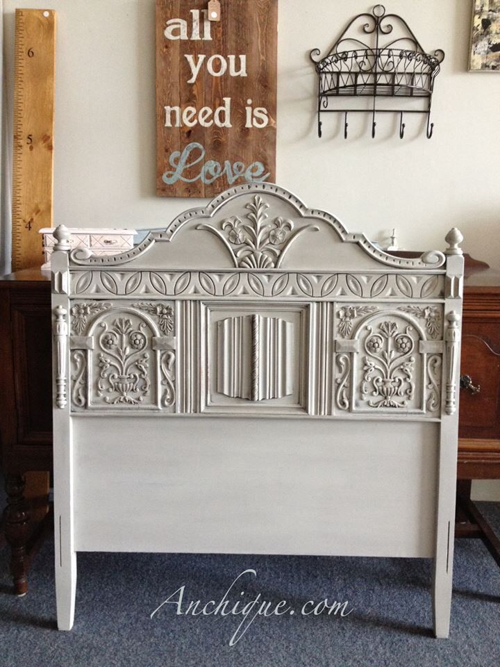Headboard Painted With Chalk Paint Decorative Paint By