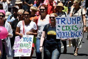 Women march in Sydney, Australia