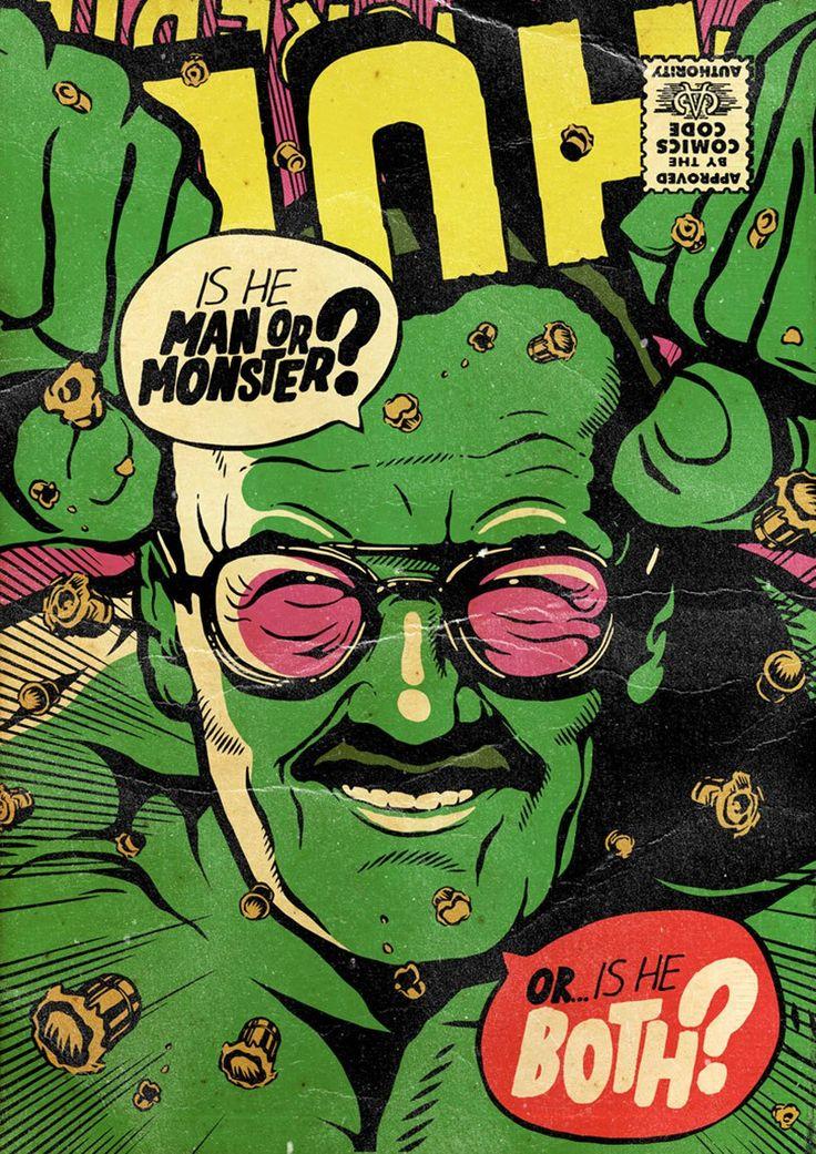 Artista recria Stan Lee como super-heróis da Marvel para homenagear um dos criadores da maior franquia de quadrinhos do mundo.