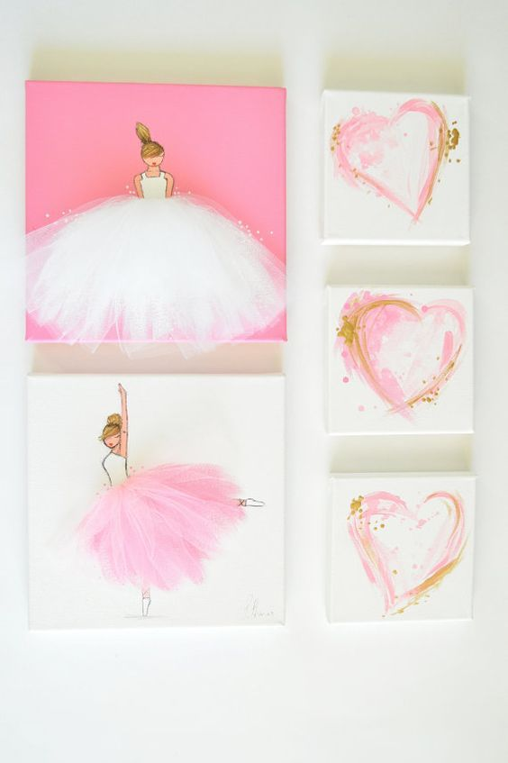 Artwork Grouping Idea for Girls Room (but in lavender)