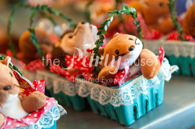 Cute Favors at a Woodland Party #woodland #partyfavors