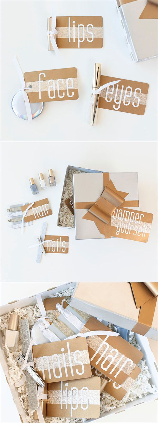Mother's Day gift box! Pamper your mom this year with these easy to make tags and labels.