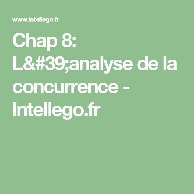 Chap 8: L'analyse de la concurrence - Intellego.fr