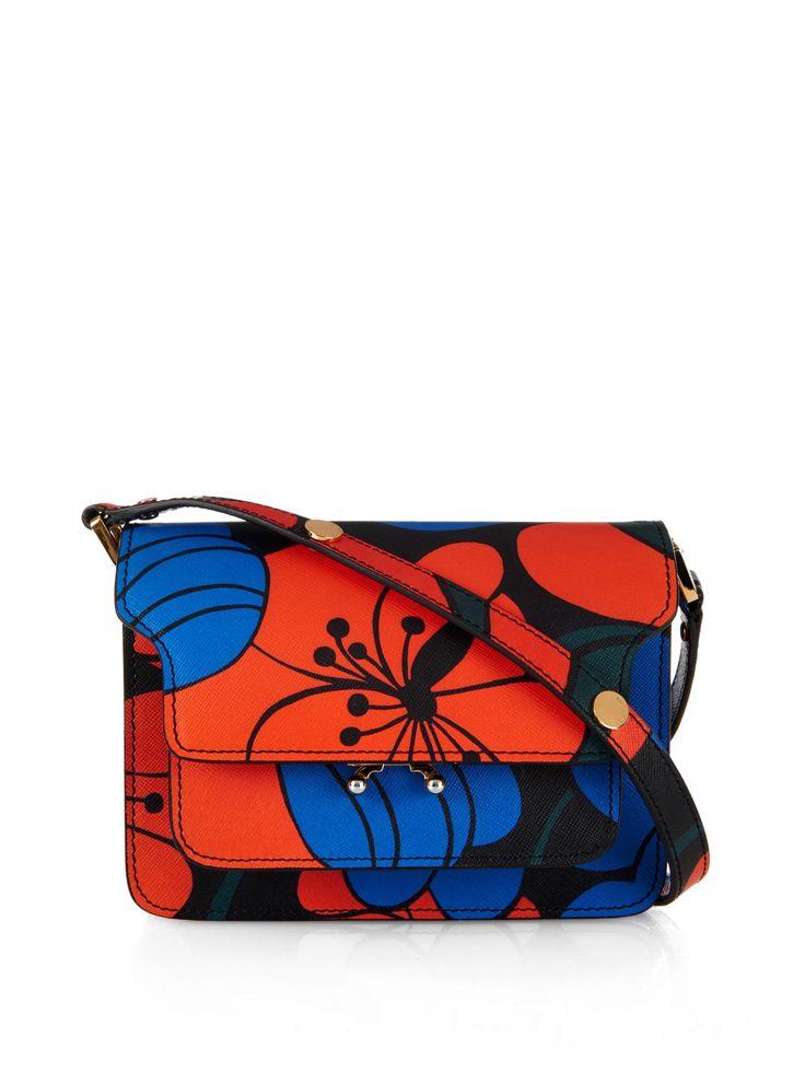 Trunk Mini floral-print leather shoulder bag | Marni | MATCHESFASHION.COM UK