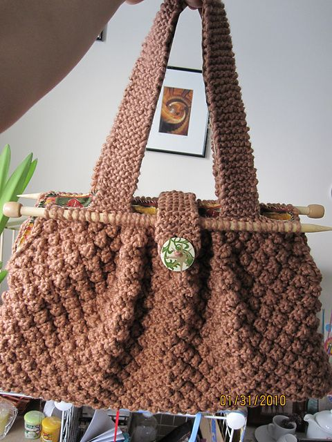 161 best Knitted Bags images on Pinterest | Knit bag, Crocheted bags ...
