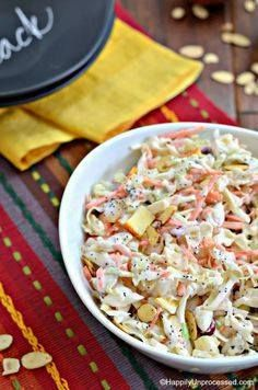A twist on your trad A twist on your traditional coleslaw with...  A twist on your trad A twist on your traditional coleslaw with crisp apples dried cranberries and slivered almonds added in. Yogurt and mayo dressing makes this coleslaw just .. Recipe : http://ift.tt/1hGiZgA And @ItsNutella  http://ift.tt/2v8iUYW