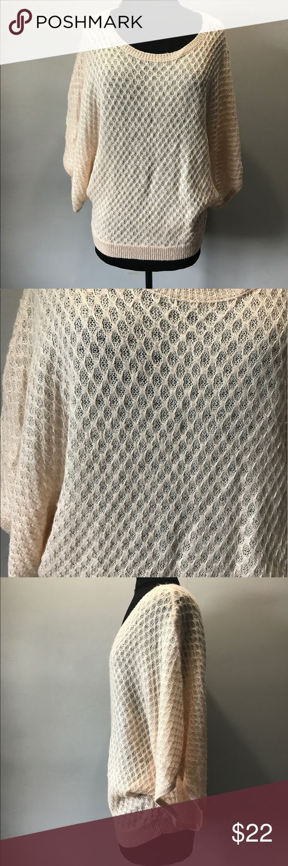 NWT New York & co small batwing top Brand new with the tag Acrylic  Nylon Size small  Cream batwing knit top New York & Company Tops Blouses