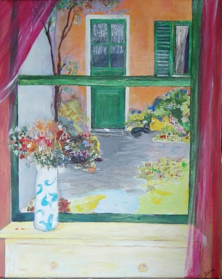 """La lettre"" Rosiane Priam- Acrylique sur toile - 40x50"