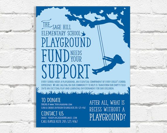 Custom Poster for School Playground Initiative by Spreepaperco