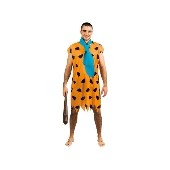 Dit Fred Flintstone look-a-like kostuum wordt geleverd met een stropdas en is gemaakt van polyester. Geschikt voor heren.