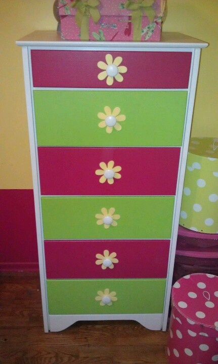 Dresser painted for our girls room