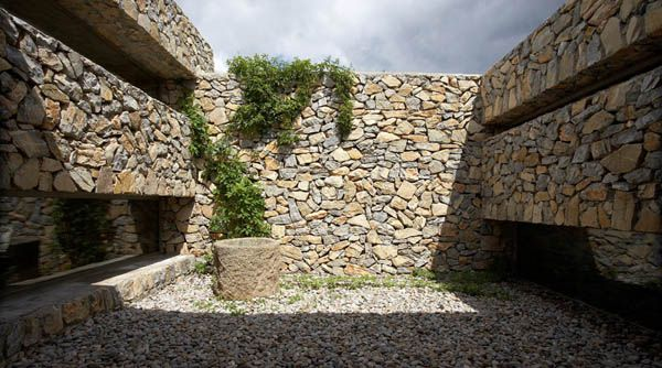 exterior muros de piedra design