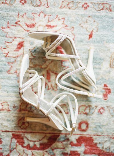 Glam shoes: http://www.stylemepretty.com/little-black-book-blog/2015/04/09/sweet-pink-san-ysidro-ranch-wedding/ | Photography: Steve Steinhardt - http://stevesteinhardt.com/