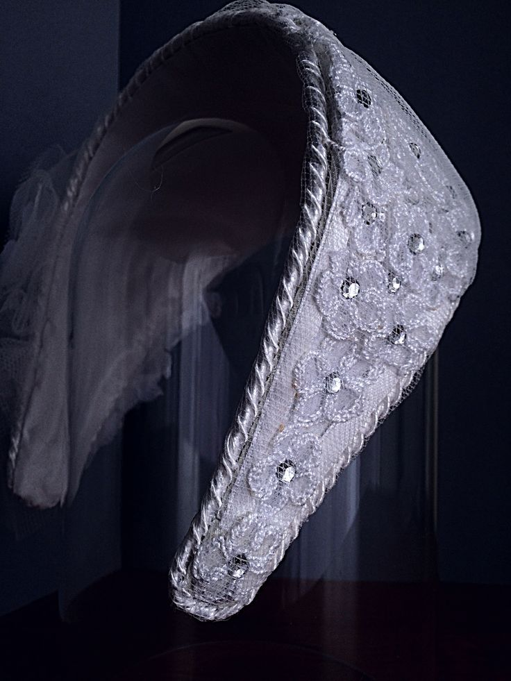 Detail - vintage diadem for the first communion