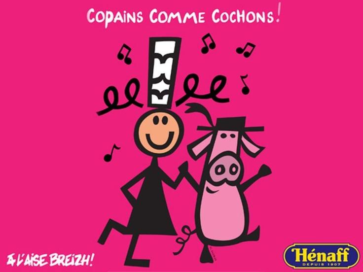 Hénaff et la célèbre marque bretonne A l'Aise Breizh s'associent pour vous proposer la collection « Copains comme Cochons ».