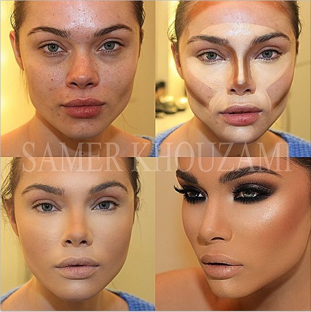 These Insta-Makeovers Will Make You Insta-Impressed #refinery29  http://www.refinery29.com/best-instagram-makeup-transformations#slide-7  From girl next door to Kardashian lookalike in a flash, thanks to a bit ton of contour.