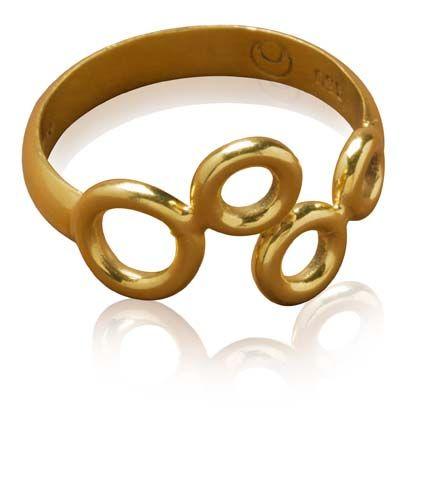ANBU002 Éclosion de Jour 24K Vermeil Ring