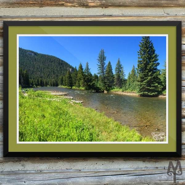 Gallatin River, Big Sky, framed poster...This museum quality poster is an iconic photograph depicting a summer scene on the Gallatin River, near Big Sky, Montana. Shop now!