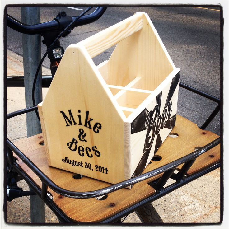 Custom beer box. The gift that keeps on giving. As long as it's filled with beer.