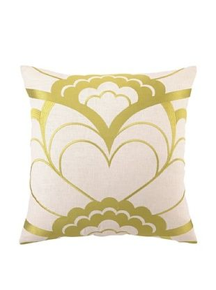 Trina Turk Deco Floral Embroidered Pillow (Citron)