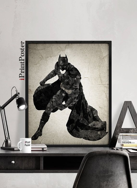 Batman poster Batman print Superheroes poster DC by iPrintPoster