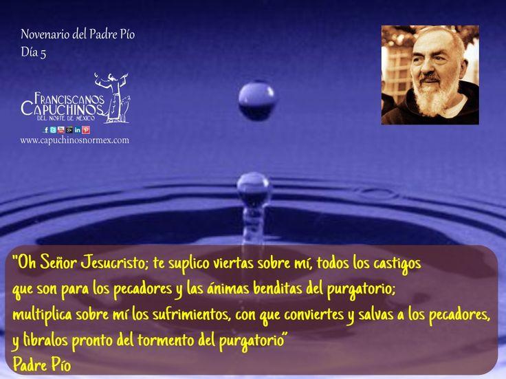 18 de Septiembre. Quinto día del novenario de Padre Pío