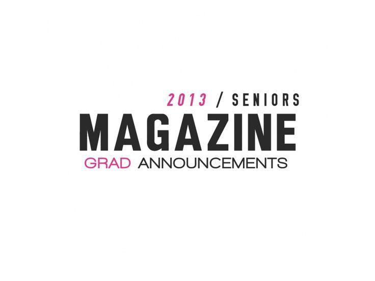 Senior Magazine Announcements (grad announcement) - The Shoppe $40